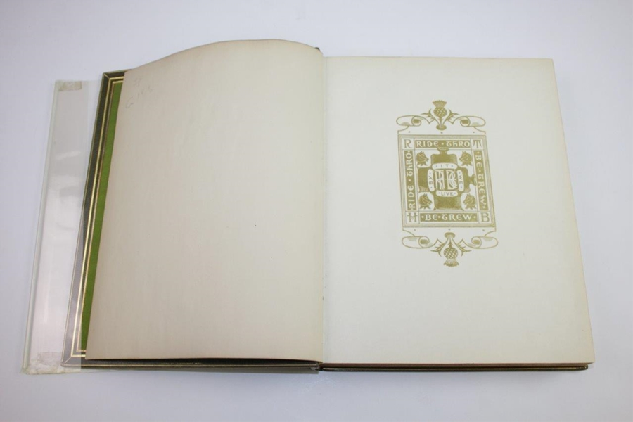 'Golf: A Royal & Ancient Game' Ltd Ed Book by Robert Clark with Andrew Carnegie Bookplate