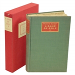 Francis Ouimet Signed Ltd Ed A Game of Golf 1932 Book #73 with Rare Original Slipcase JSA ALOA