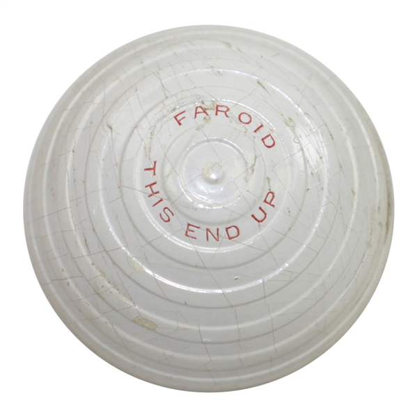Circa 1933 Faroid Company 75 Golf Ball - 'Faroid' 'This End Up'