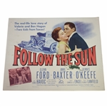 Classic 1951 Follow the Sun Large Movie Broadside Poster - Ben Hogan Movie