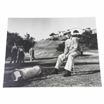 Ben Hogan Signed 16x20 B&W Photo with Riviera Clubhouse JSA FULL #Z90610