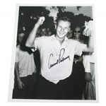 Arnold Palmer Signed B&W Photo of 1954 US Amateur Victory JSA ALOA
