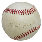Richard Nixon Signed Rawlings Official National League Baseball JSA FULL #Z90577