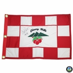 Andy North Signed Cherry Hills Embroidered Flag with 1978 Inscription JSA ALOA