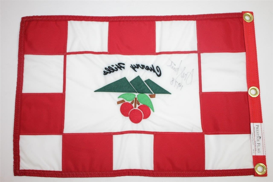 Andy North Signed Cherry Hills Embroidered Flag with '1978' Inscription JSA ALOA