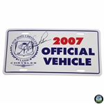 Arnold Palmer Signed 2007 Bob Hope Chrysler Official Vehicle License Plate JSA ALOA