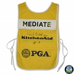 Rocco Mediate & Caddie Martin Courtois Signed Winning 2016 Senior PGA Caddy Bib JSA ALOA