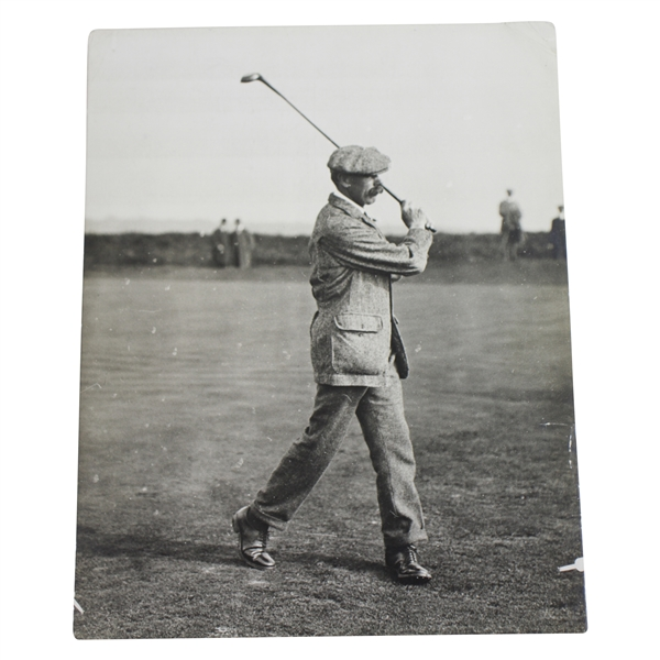 James Braid Driving at Walton Heath Championship Type 1 Daily Mirror Photo - Victor Forbin Collection