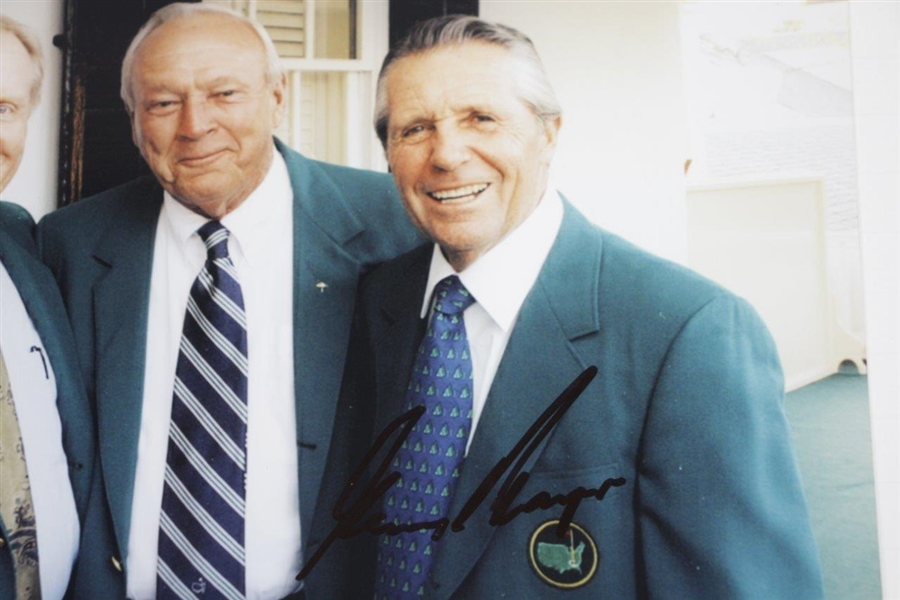 Arnold Palmer, Jack Nicklaus, & Gary Player 'Big 3' Signed Photo in Green Jackets JSA ALOA