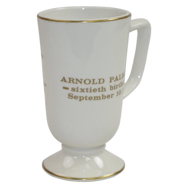 Arnold Palmer's 60th Birthday Celebration Homer Laughlin Tall China Cup - Used at Party