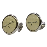 1970s Classic Jack Nicklaus Golf Ball #1 Cuff Links
