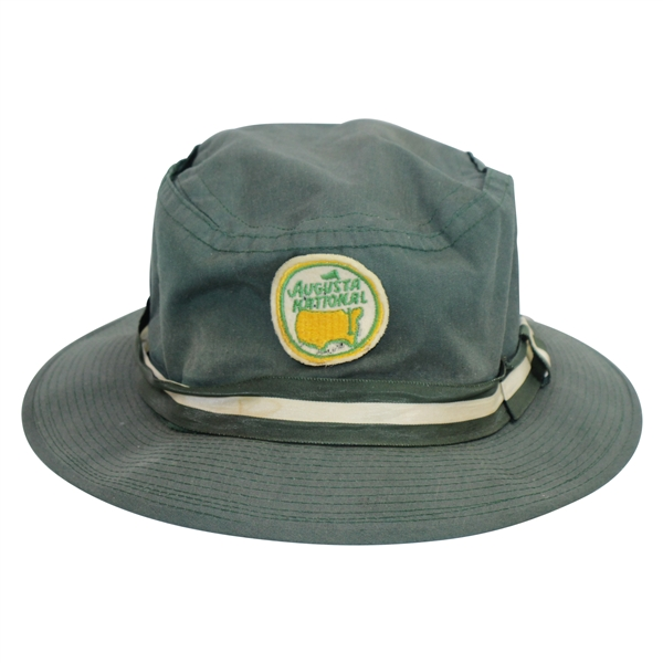 Vintage Augusta National Golf Club Circle Patch Logo Dk Green Bucket Hat