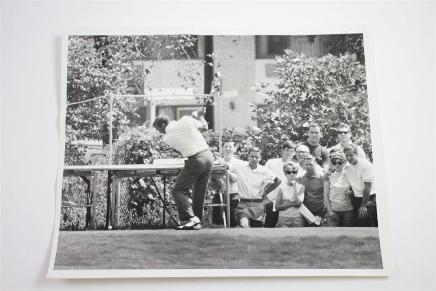Two (2) Arnold Palmer at 1967 Western Open Championship 10x8 Wire Photos