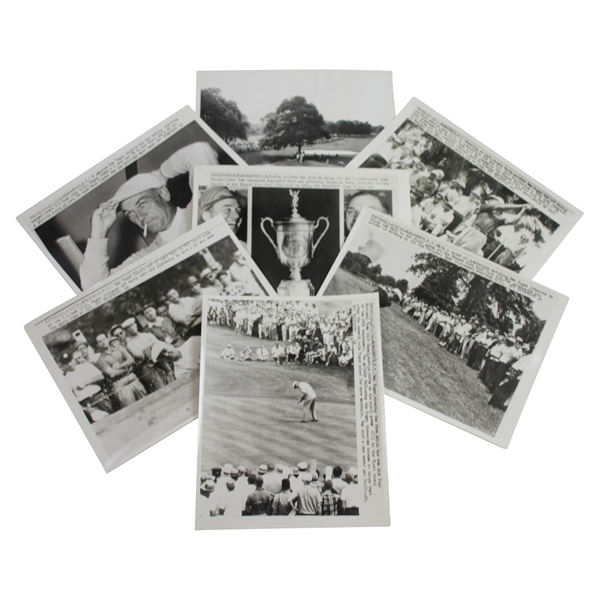 Seven (7) Ben Hogan at 1959 US Open at Winged Foot 7x9 Wire Photos