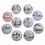 Ten (10) Amateur Championship Winners Signed Golf Balls JSA ALOA
