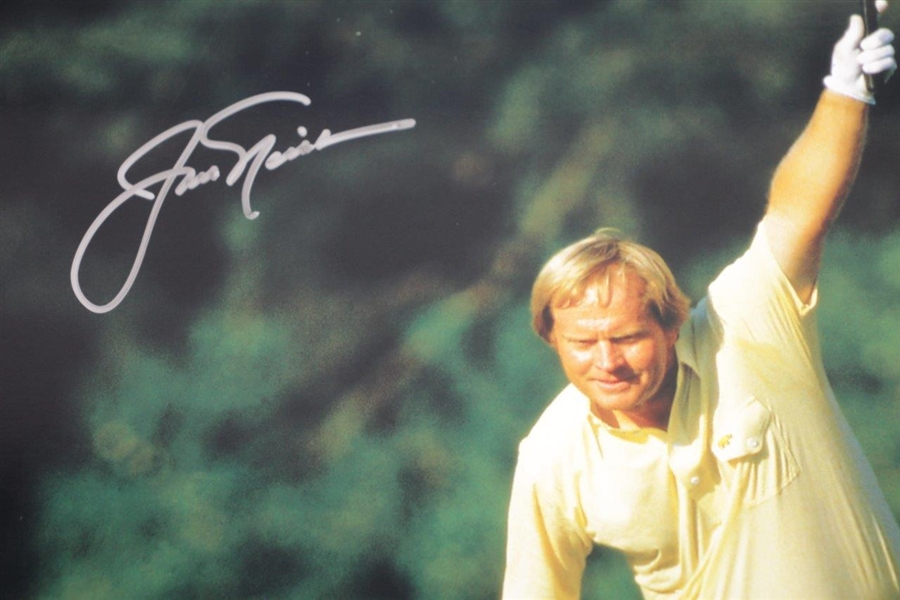Jack Nicklaus Signed 1986 Masters Raised Putter Photo - Fanatics/Golden Bear Authentication Stickers