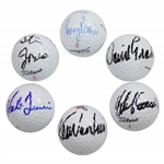 Venturi, Irwin, Goosen, Pavin, Jones, & Graham Signed Golf Balls JSA ALOA