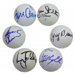 Crenshaw, Faldo, Aaron, Stockton, Brewer, & Olazabal Signed Golf Balls JSA ALOA