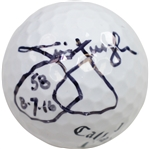 Jim Furyk Signed Callaway Golf Ball with 58 & the date 8.7.16 JSA #Q17824