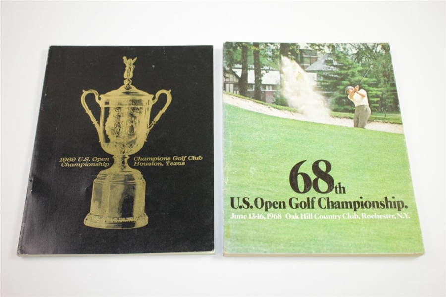 1955, 1963, 1965(x2), 1968, & 1969(x3) US Open Championship Official Programs