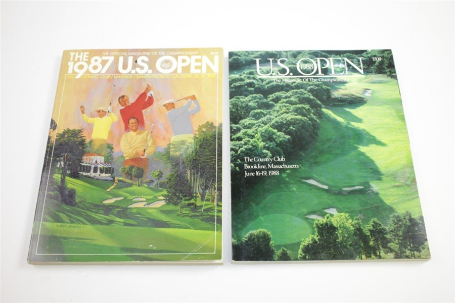 1980, 1982, 1983(x2), 1984(x4), 1985(x3), 1986(x2), 1987, 1988(x2), & 1989 US Open Championship Official Programs