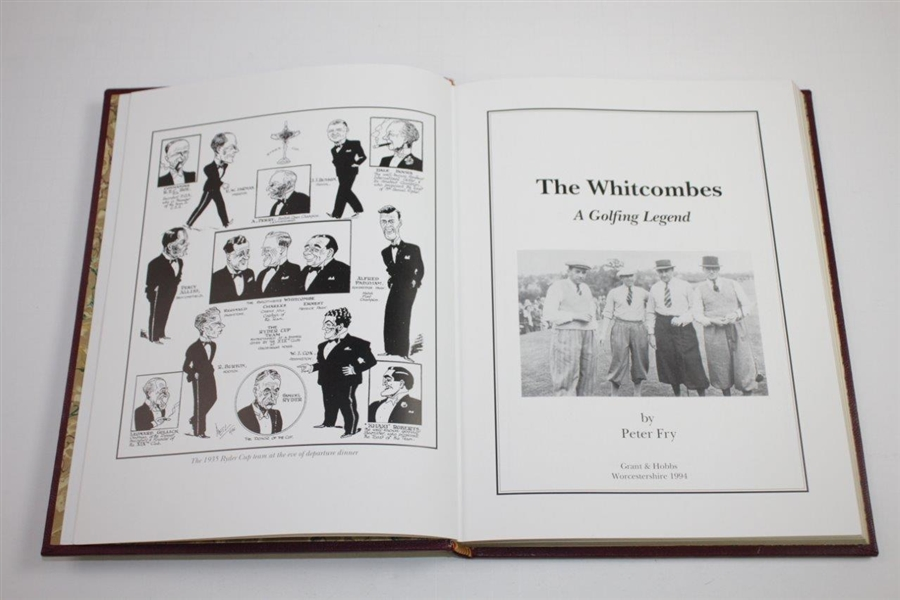 1994 'The Whitcombes: A Golfing Legend' Ltd Ed Presentation Copy 21/70 Signed by Author Peter Fry