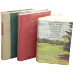 Three(3) Herbert Warren Wind Signed Books Following Through, Complete Golfer(x2) JSA ALOA