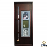 Hal Suttons Personal Used 1983 PGA Championship at Riviera Winning 3-Wood in Custom Cherry Wood Display