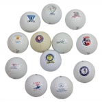 Twelve(12) Different PGA Tour Event Logo Golf Balls - Kemper Open, Las Vegas, & other