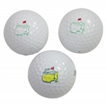 Two Masters Undated Golf Balls & One 2000 Masters Tournament Logo Golf Ball