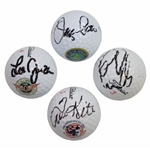 Pate, Janzen, Kite, & Els US Open Champs Signed on Course Won Logo Golf Balls JSA ALOA
