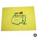 Jack Nicklaus Signed 2007 Masters Embroidered Flag with Years Won Notation JSA ALOA