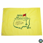 Jack Nicklaus Signed 2010 Masters Flag with Years Won AND Score Notation! JSA ALOA