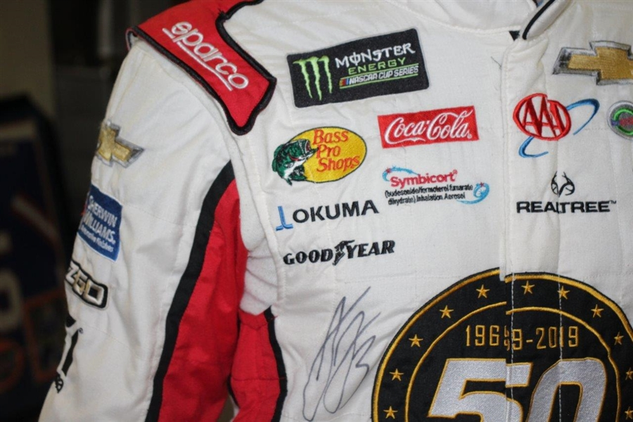 NASCAR Driver Austin Dillon Signed Personal Used Racing Fire Suit JSA ALOA