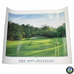 Jose Maria Olazabal Signed 1999 Masters Tournament Poster - Champion JSA ALOA