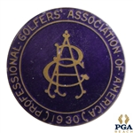 1930 PGA Championship at Fresh Meadow CC Contestant Badge - Tommy Armour Winner