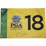 Jason Day Signed 2015 PGA Championship at Whistling Straits Flag JSA ALOA