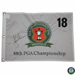 Tiger Woods Signed 2006 PGA Championship at Medinah Embroidered Flag JSA ALOA