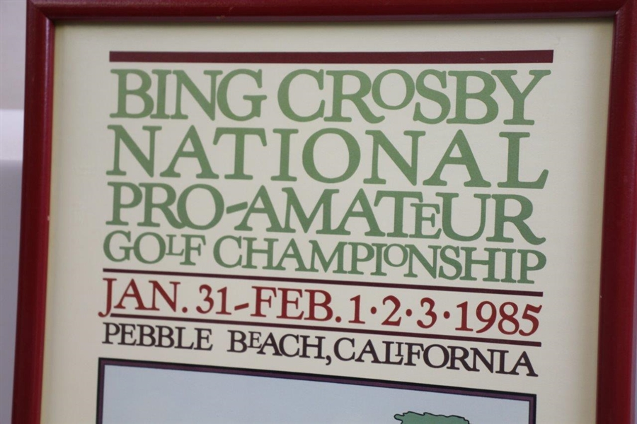 1985 Bing Crosby National Pro-Am Golf Championship Information Poster - Framed