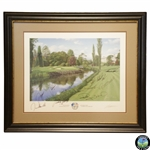 2006 Ryder Cup at The K Club European Team Signed Graeme Baxter Print - Framed JSA ALOA