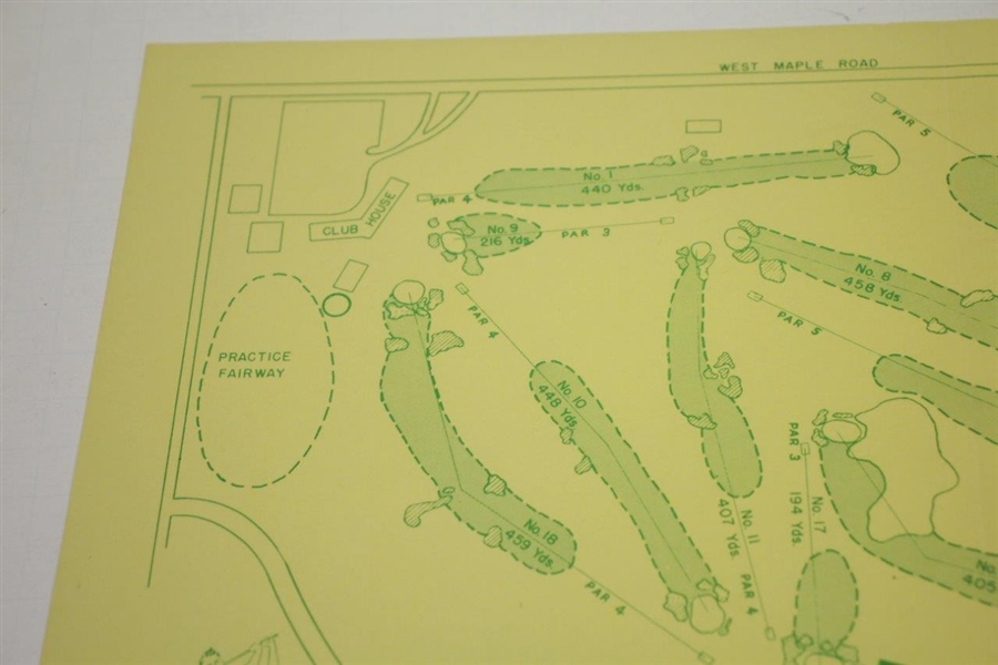 1951 US Open at Oakland Hills Country Club Course Map