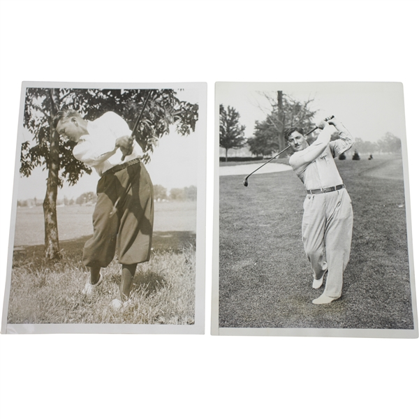 1933 US Open at North Shore GC Wire Photos - Ky Laffoon & Clarence Gamber