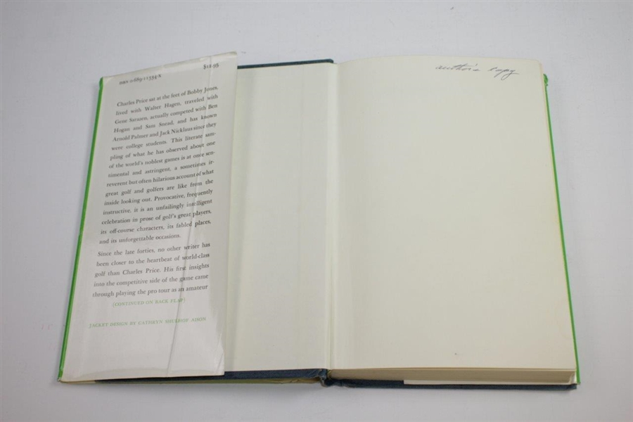 1982 'Golfer-At-Large' Author's Copy Book by Charles Price - The Charles Price Collection