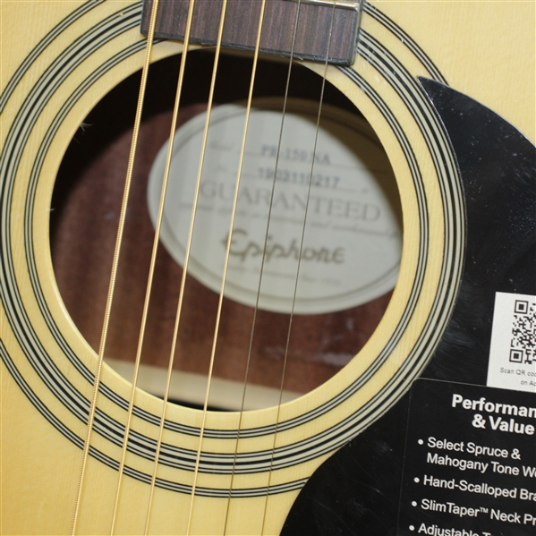 Vince Gill & Amy Grant Gill Signed Epiphone Acoustic Guitar - Caddies For A Cause JSA ALOA
