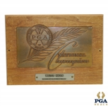 Walter Hagen 1921-1924-1925-1926-1927 PGA National Champion Bronze Relief Plaque