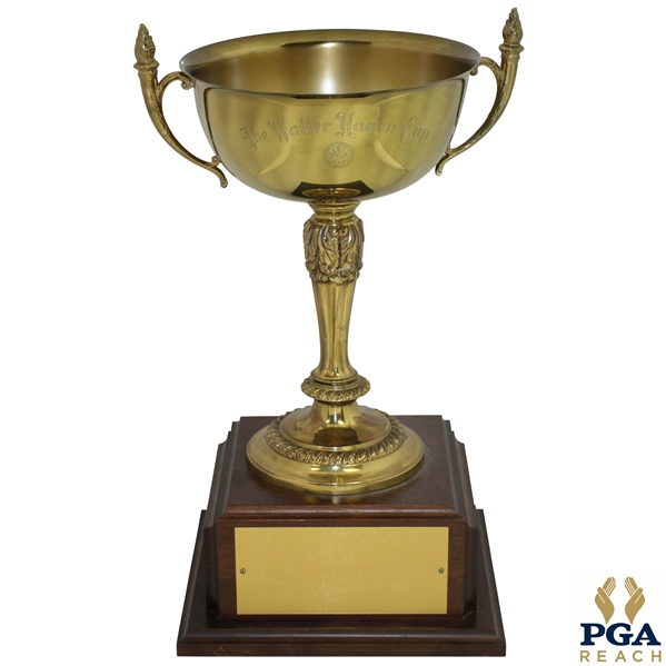 Official Walter Hagen Cup on Wood Plinth - Excellent Condition - 16 Tall