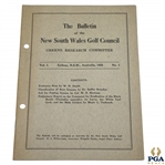 1931 Bulletin of New South Wales Greens Research Committee Booklet - Vol. 1 No. 1