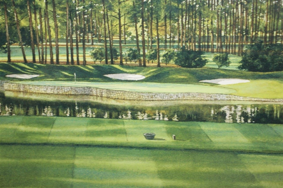 Atlanta Athletic Club Highland Course #17 Print #105/850 Signed by Artist Steve Lotus with '2001' PGA