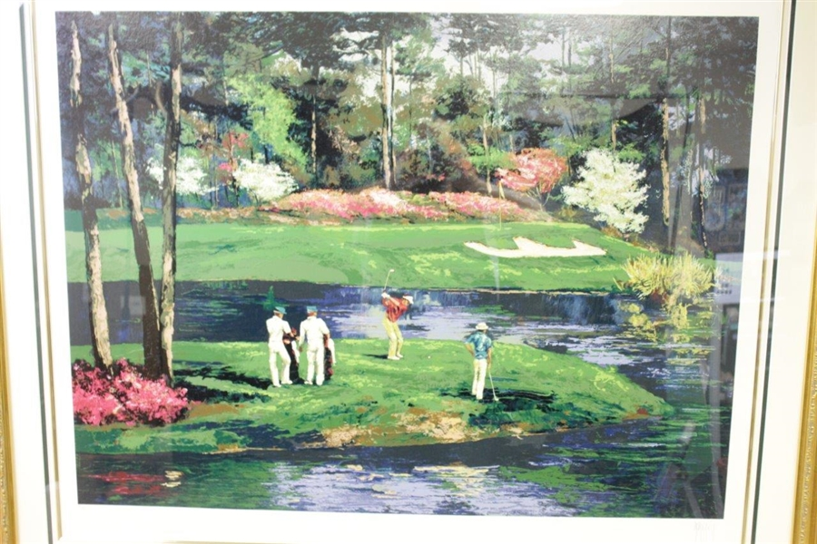 Large Augusta Country Club Ltd Ed #76/295 by Mark King Deluxe Framed Print