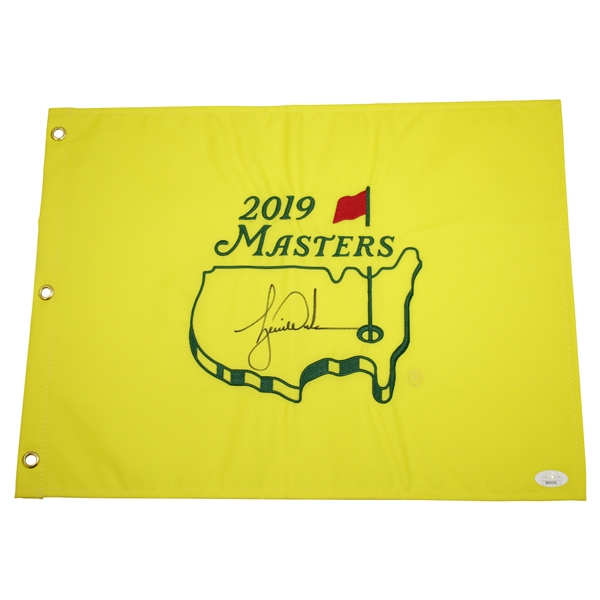 Tiger Woods Signed 2019 Masters Embroidered Flag JSA FULL #BB46560